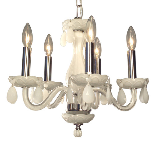 Classic Lighting 82045 WHT WH Monaco Crystal Chandelier in White (Imported from Spain)
