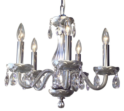Classic Lighting 82045 SIL CPFR Monaco Crystal Chandelier in Silver (Imported from Spain)