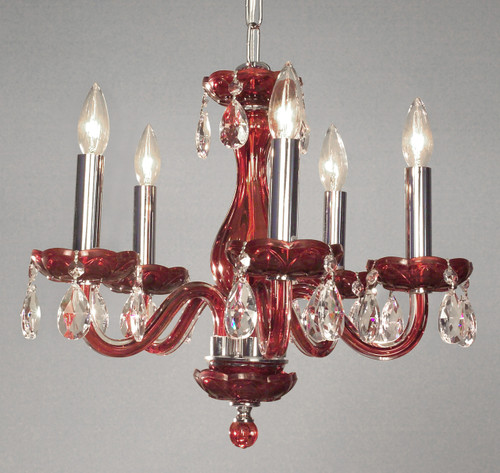 Classic Lighting 82045 RED CPPR Monaco Crystal Chandelier in Red (Imported from Spain)