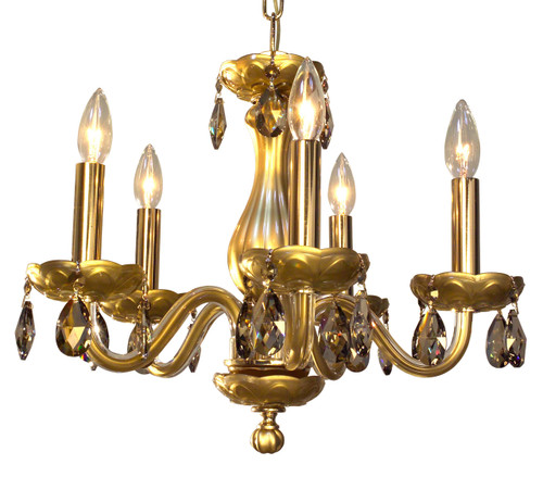 Classic Lighting 82045 GLD SGT Monaco Crystal Chandelier in Gold (Imported from Spain)