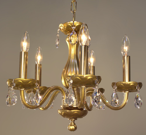 Classic Lighting 82045 GLD CPPR Monaco Crystal Chandelier in Gold (Imported from Spain)