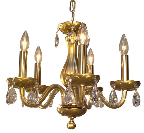 Classic Lighting 82045 GLD CP Monaco Crystal Chandelier in Gold (Imported from Spain)