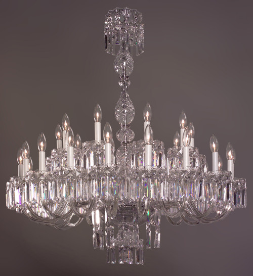 Classic Lighting 82034 CH CBK Buckingham Crystal Chandelier in Chrome (Imported from Spain)