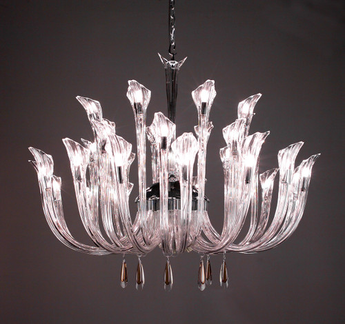 Classic Lighting 82025 CH WHT Inspiration Crystal Chandelier in Chrome (Imported from Spain)