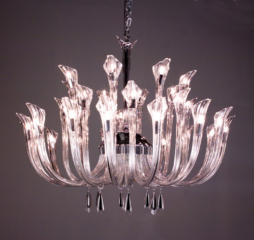 Classic Lighting 82025 CH BKS Inspiration Crystal Chandelier in Chrome (Imported from Spain)