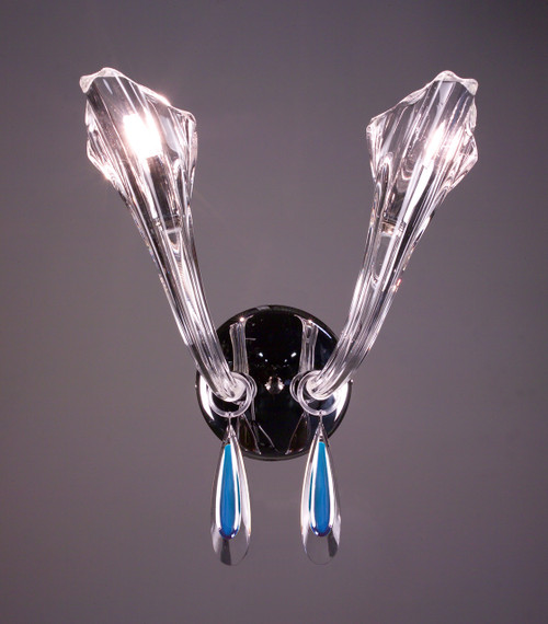 Classic Lighting 82022 CH SAP Inspiration Crystal Wall Sconce in Chrome (Imported from Spain)