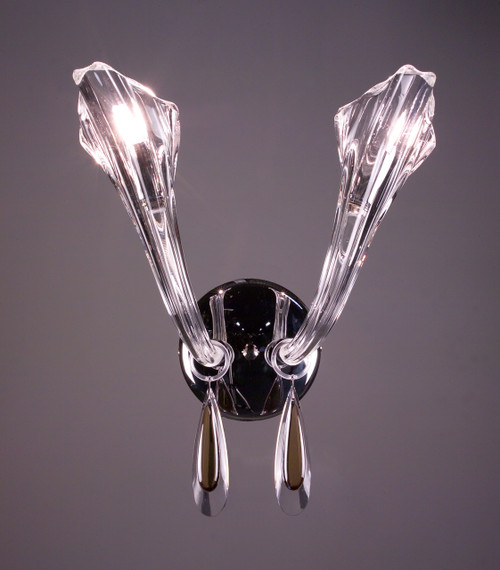 Classic Lighting 82022 CH GT Inspiration Crystal Wall Sconce in Chrome (Imported from Spain)