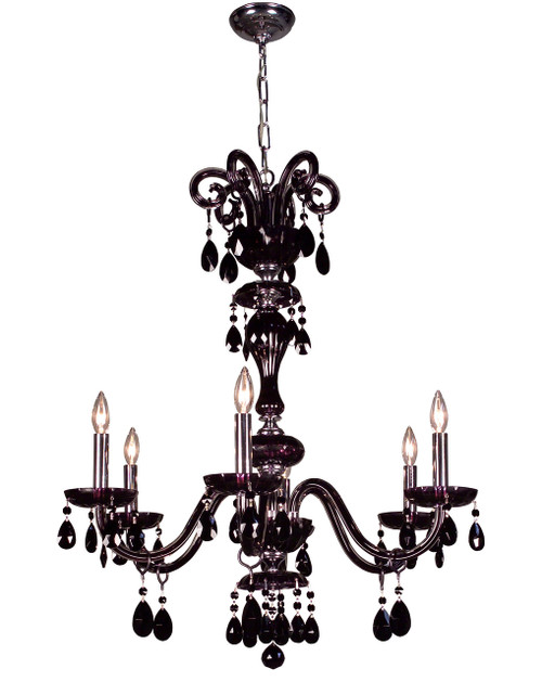 Classic Lighting 82006 SJT Monte Carlo Crystal Chandelier in Black (Imported from Spain)