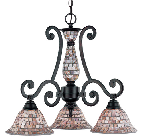 Classic Lighting 71146 ORB Pearl River Wrought Iron Chandelier in Oil-Rubbed Bronze