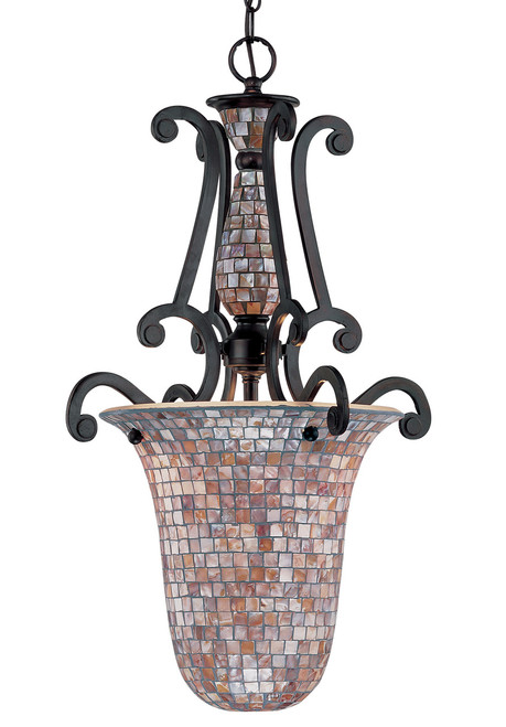 Classic Lighting 71144 ORB Pearl River Wrought Iron Pendant in Oil-Rubbed Bronze