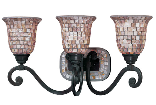 Classic Lighting 71143 ORB Pearl River Wrought Iron Vanity Light in Oil-Rubbed Bronze