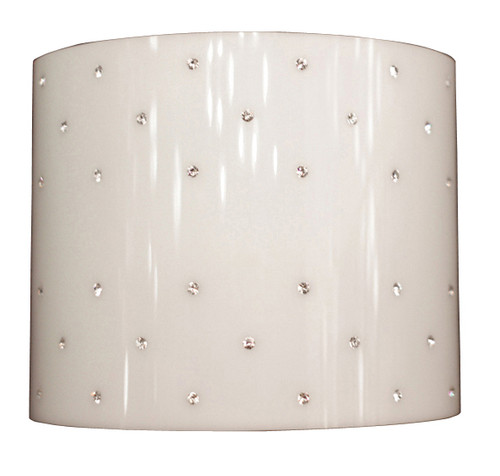 Classic Lighting 71092 BST SAQ Felicia Swarovski Elements Acrylic Wall Sconce in Brushed Steel