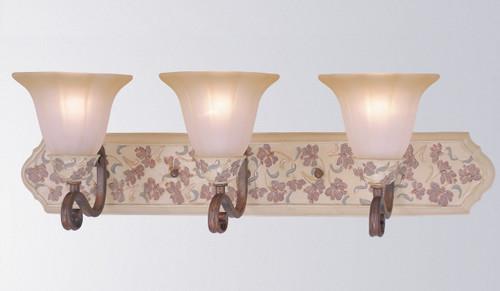 Classic Lighting 71043 HW Tapestry Glass/Resin Vanity Light in Honey Walnut