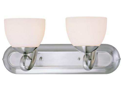 Classic Lighting 71012 BN Odyssey Glass/Steel Vanity Light in Brushed Nickel