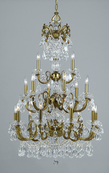 Classic Lighting 69809 EBG C Vienna Palace Crystal Chandelier in English Bronze/Gold