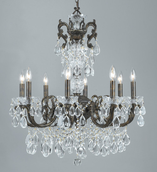 Classic Lighting 69808 EBG C Vienna Palace Crystal Chandelier in English Bronze/Gold