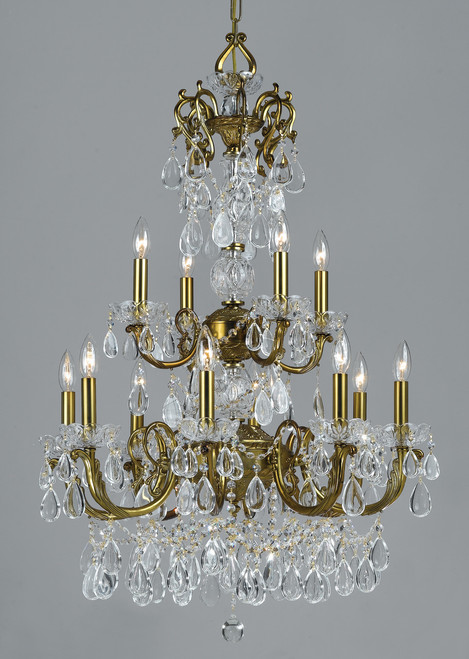 Classic Lighting 69807 RNB C Vienna Palace Crystal Chandelier in Brass