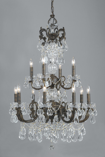 Classic Lighting 69807 EBG C Vienna Palace Crystal Chandelier in English Bronze/Gold