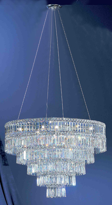 Classic Lighting 69795 CH RO Sofia Crystal Chandelier in Chrome