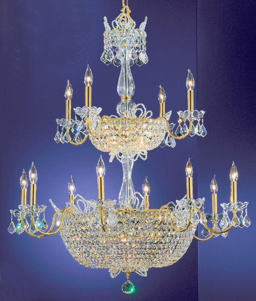 Classic Lighting 69789 GP S Crown Jewels Crystal Chandelier in Gold