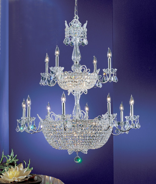 Classic Lighting 69789 CH CP Crown Jewels Crystal Chandelier in Chrome