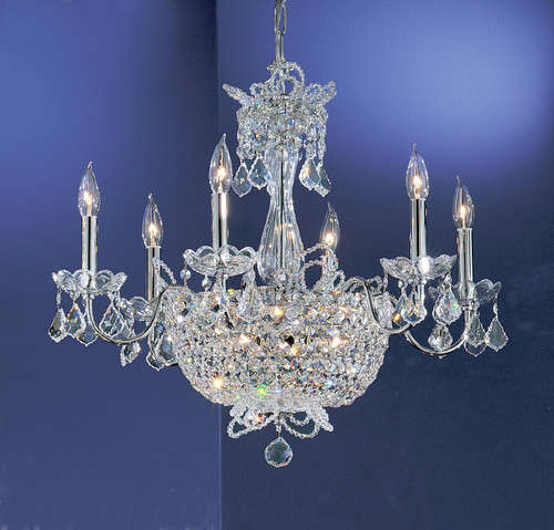 Classic Lighting 69786 CH CP Crown Jewels Crystal Chandelier in Chrome