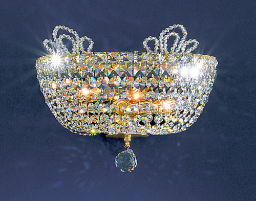 Classic Lighting 69782 GP SC Crown Jewels Crystal Wall Sconce in Gold