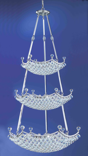 Classic Lighting 69779 CH CP Solitaire Crystal Chandelier in Chrome