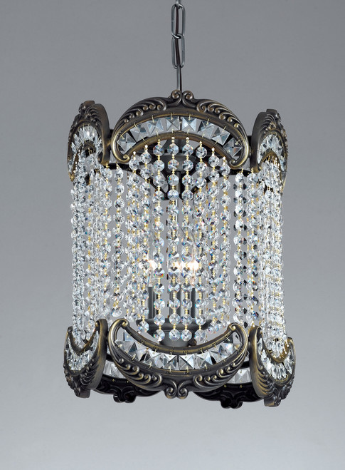 Classic Lighting 69764 RB CP Emily Crystal Lantern in Roman Bronze