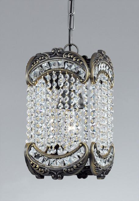 Classic Lighting 69761 RB CP Emily Crystal Pendant in Roman Bronze