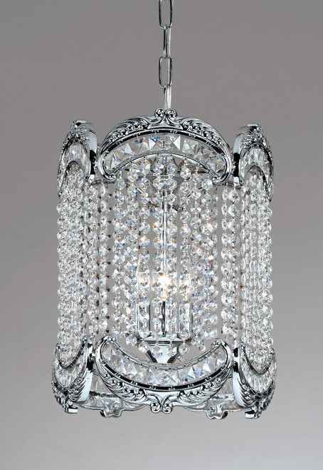 Classic Lighting 69761 CH S Emily Crystal Pendant in Chrome