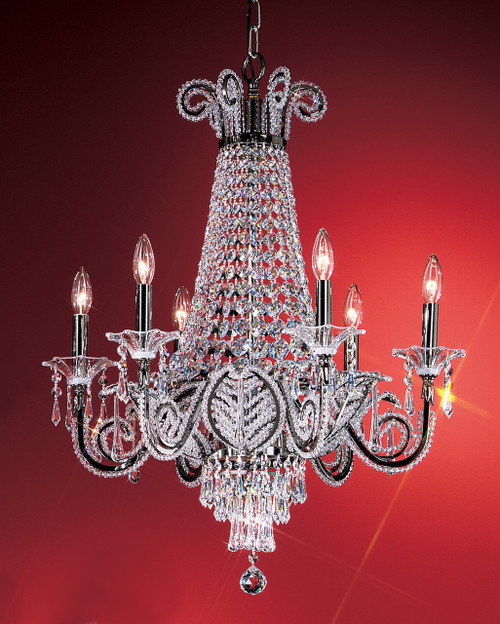 Classic Lighting 69756 EP DSK Beaded Leaf Crystal Chandelier in Ebony Pearl