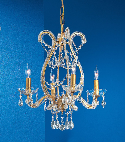 Classic Lighting 69724 OG GCA Aurora Crystal Chandelier in Olde Gold