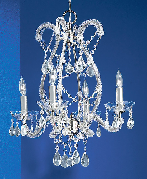 Classic Lighting 69724 CH S Aurora Crystal Chandelier in Chrome