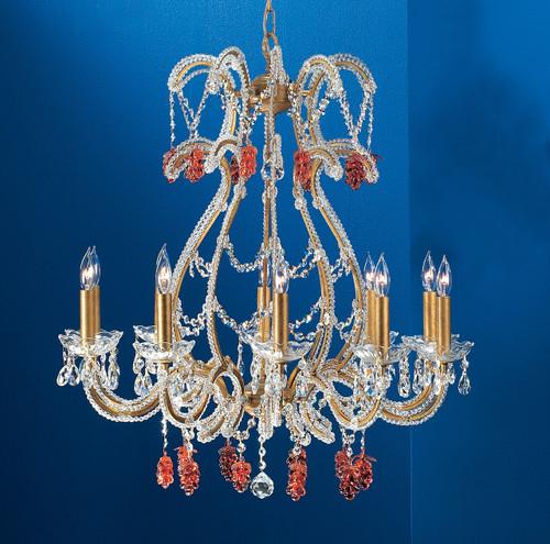 Classic Lighting 69720 OG S Aurora Crystal Chandelier in Olde Gold