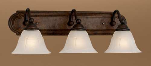 Classic Lighting 69632 RSB WAG Providence Glass/Steel Vanity Light in Rustic Bronze