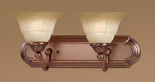 Classic Lighting 69632 ACP TCG Providence Glass/Steel Vanity Light in Antique Copper