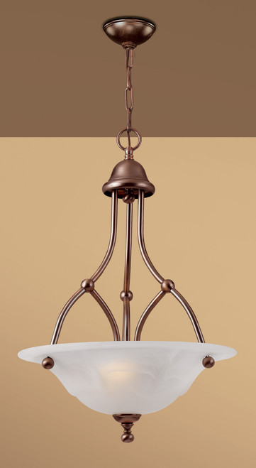 Classic Lighting 69627 RSB WAG Providence Glass/Steel Chandelier in Rustic Bronze
