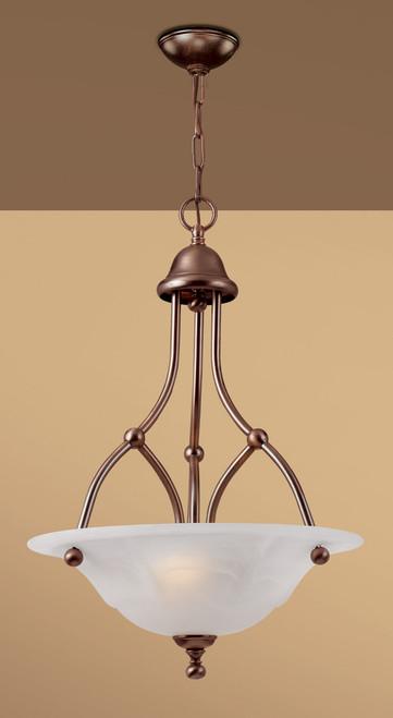 Classic Lighting 69627 RSB TCG Providence Glass/Steel Chandelier in Rustic Bronze