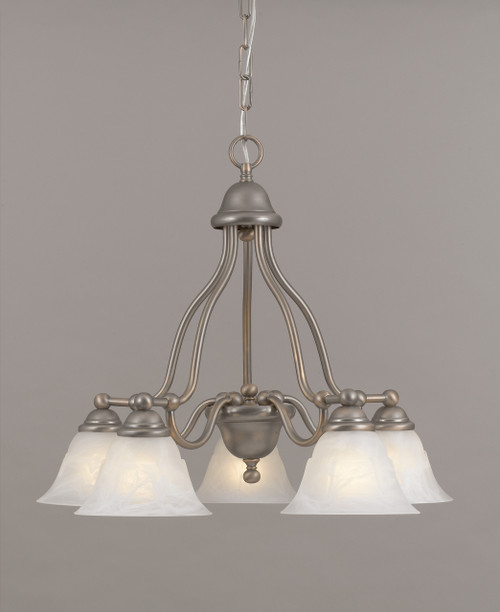 Classic Lighting 69625 RSB WAG Providence Glass/Steel Chandelier in Rustic Bronze