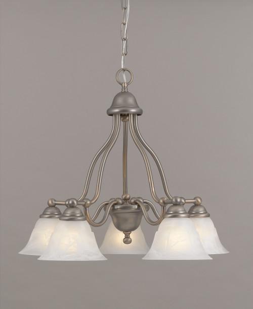 Classic Lighting 69625 RSB TCG Providence Glass/Steel Chandelier in Rustic Bronze
