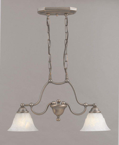 Classic Lighting 69623 ACP WAG Providence Glass/Steel Island Light in Antique Copper