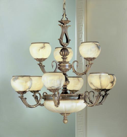 Classic Lighting 69609 VBZ C Alexandria I Crystal Chandelier in Victorian Bronze