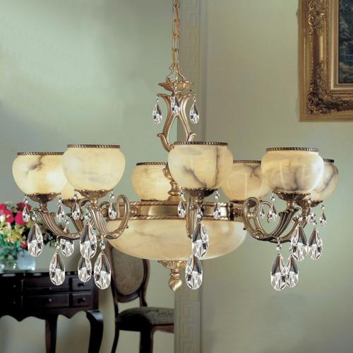 Classic Lighting 69608 SBB SC Alexandria I Crystal Chandelier in Satin Bronze/Brown Patina