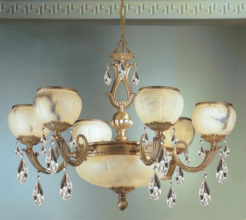 Classic Lighting 69606 VBZ S Alexandria I Crystal Chandelier in Victorian Bronze