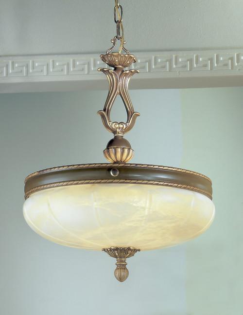 Classic Lighting 69605 VBZ Alexandria I Alabaster Pendant in Victorian Bronze