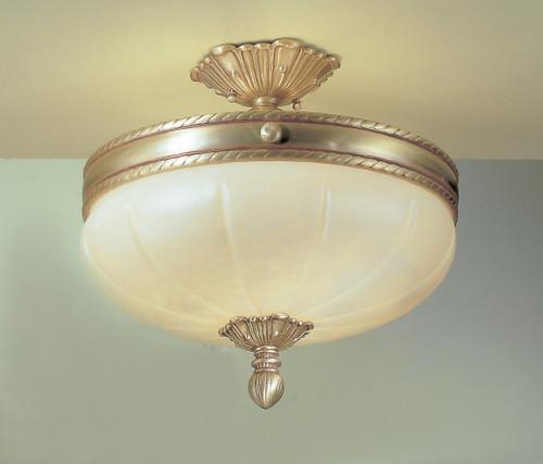 Classic Lighting 69604 SBB S Alexandria I Crystal Flushmount in Satin Bronze/Brown Patina