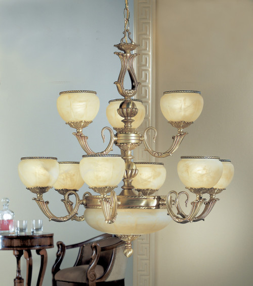 Classic Lighting 69509 SBB S Alexandria II Crystal Chandelier in Satin Bronze/Brown Patina