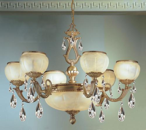 Classic Lighting 69506 SBB S Alexandria II Crystal Chandelier in Satin Bronze/Brown Patina