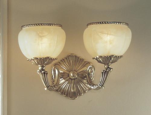 Classic Lighting 69502 SBB C Alexandria II Crystal Wall Sconce in Satin Bronze/Brown Patina